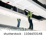 duct air system at construction ... | Shutterstock . vector #1106653148
