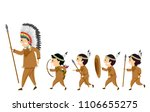 illustration of stickman native ... | Shutterstock .eps vector #1106655275