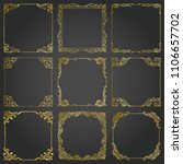 decorative gold frames and... | Shutterstock .eps vector #1106657702
