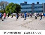 hamburg  germany  12 may  2018  ... | Shutterstock . vector #1106657708