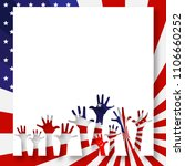 patriotic banner poster... | Shutterstock .eps vector #1106660252