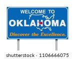 welcome to oklahoma road sign | Shutterstock .eps vector #1106666075