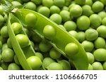 Many Fresh Green Peas As...