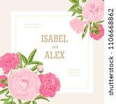 square wedding invitation... | Shutterstock .eps vector #1106668862