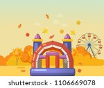 autumn playground for children. ... | Shutterstock .eps vector #1106669078