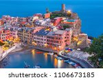 aerial night fishing village... | Shutterstock . vector #1106673185