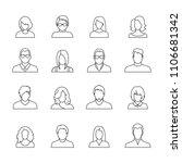 set of avatar or user icons.... | Shutterstock .eps vector #1106681342