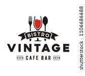 vintage restaurant logo design... | Shutterstock .eps vector #1106686688