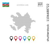 dotted map of azerbaijan.... | Shutterstock .eps vector #1106688722