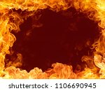 fire border on red background   Shutterstock . vector #1106690945