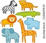 wild animals vector...   Shutterstock .eps vector #110669915