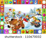 the christmas frame with lot of ... | Shutterstock . vector #110670032