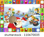 the christmas frame with lot of ...   Shutterstock . vector #110670035