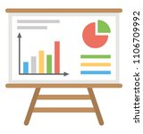 presentation whiteboard with... | Shutterstock .eps vector #1106709992