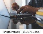 close up businessman holding...   Shutterstock . vector #1106710556