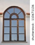 Arched Window On The Wall Of...
