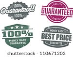 vintage style guarantee service ... | Shutterstock .eps vector #110671202