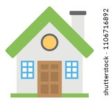 a cottage flat icon design  | Shutterstock .eps vector #1106716892