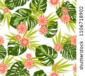 tropical seamless pattern with... | Shutterstock .eps vector #1106718902