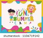 summer camp for kids creative... | Shutterstock .eps vector #1106719142