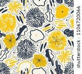 vector flower pattern.... | Shutterstock .eps vector #1106720066