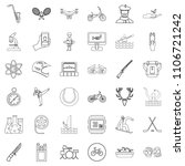 swimming icons set. outline... | Shutterstock . vector #1106721242