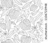 vector tropical seamless... | Shutterstock .eps vector #1106723948