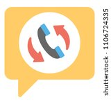 phone handset with speech... | Shutterstock .eps vector #1106724335