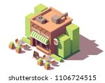 vector isometric coffee shop or ... | Shutterstock .eps vector #1106724515