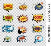 set of comic speech bubbles.... | Shutterstock .eps vector #1106727326