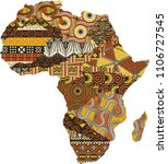 abstract africa map fabric... | Shutterstock .eps vector #1106727545