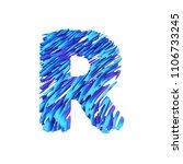 alphabet letter r uppercase.... | Shutterstock . vector #1106733245
