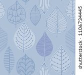 seamless pattern with leaf.... | Shutterstock .eps vector #1106734445