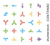 arrows colored icons set