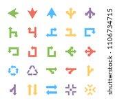 arrows colored vectors set