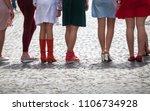 group of women on city street...   Shutterstock . vector #1106734928