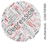 conceptual depression or mental ... | Shutterstock . vector #1106735585