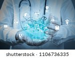 health care system diagram with ...   Shutterstock . vector #1106736335