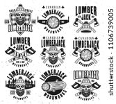 lumberjack vintage black on... | Shutterstock .eps vector #1106739005
