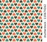 vintage hearts | Shutterstock .eps vector #110674262