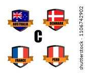 set of football badge vector...   Shutterstock .eps vector #1106742902