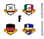 set of football badge vector...   Shutterstock .eps vector #1106742908