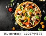top view of tasty appetizing...   Shutterstock . vector #1106744876