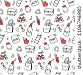 zero waste hand drawn... | Shutterstock .eps vector #1106746985