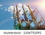three missiles on the... | Shutterstock . vector #1106751092