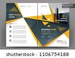 vector brochure layout  flyers... | Shutterstock .eps vector #1106754188