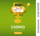 big win 777 lottery vector... | Shutterstock .eps vector #1106760428