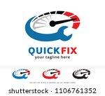 quick fix logo symbol template... | Shutterstock .eps vector #1106761352