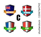 set of football badge vector...   Shutterstock .eps vector #1106764742