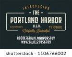 original handmade alphabet.... | Shutterstock .eps vector #1106766002